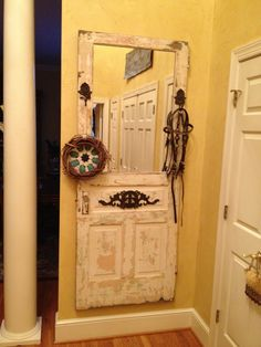 Vintage Door Hall Trees....I love this look!  http://www.giddyupcycle.com