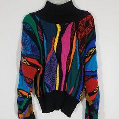 Vintage 90s Coogi Sweater Bill Cosby style black multicolor - Depop Bill  Cosby 8b99d137c