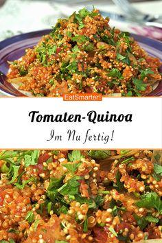 Quinoa - Quick recipe with few calories: tomato quinoa – smarter – calories: 402 kcal – time: 25 min. -Tomato Quinoa - Quick recipe with few calories: tomato quinoa – smarter – calories: 402 kcal – time: 25 min. Seafood Recipes, Soup Recipes, Salad Recipes, Vegan Recipes, Dinner Recipes, Seafood Appetizers, Avocado Recipes, Greek Recipes, Couscous
