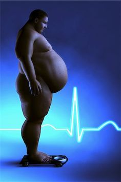 fat people on scale - Obese person standing in front of an electrocardiogram representing the negative effects of this medical condition. Stock Photo - Rights-Managed, Code: 875-06575660