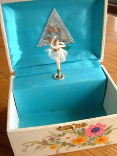 Musical Child's Vintage Jewelry Box With Rotating Ballerina