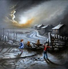 Bob Barker Unique Paintings, Art Themes, Natural World, Night Time, Contemporary Artists, Impressionism, Wallpaper Backgrounds, Watercolor Art, Illustrators
