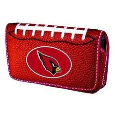 Free S/H NFL Arizona Cardinals Football Universal Cell Phone Case Made with REAL Football Leather