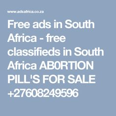 Free ads in South Africa - free classifieds in South Africa Abortion clinic 0608249596 Real Magic Spells, Lost Love Spells, Powerful Love Spells, Bring Back Lost Lover, Love Spell Caster, Current Job, Free Ads, Ex Husbands, Love And Marriage