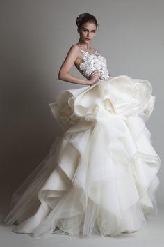 Krikor Jabotian Wedding gown.   #Bridaltribe #Weddings