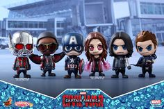 Hot Toys - COSB256 - Captain America: Civil War - Team Captain America Cosbaby Bobble-Head Collectible Set Of 6
