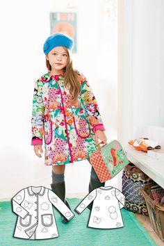 BurdaStyle - Girl's Reversible Coat 10/2015 #136