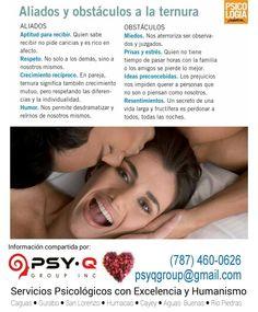 El arte de la TERNURA ♡ Psy- Q Group, Inc.- Servicios Psicológicos ♡ 787-460-0626 ♡ psyqgroup@gmail.com