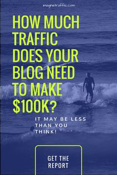 How Much Traffic Does your blog need to make 6 figures? Find out here.
