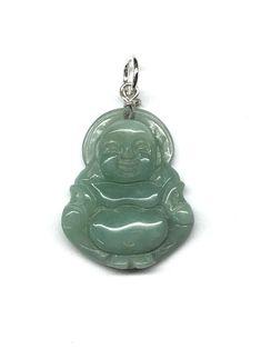 1 Pcs Chinese Tiger Eye Jade Pendant Buddha God Old Money Coin Pendant