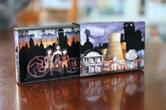Della Mortika in a Matchbox Miniature scene by SuitcaseDollhouse After Christmas, Christmas Holidays, Matchbox Crafts, Box Art, Art Boxes, Room Lights, Altered Art, Decorative Items, 1