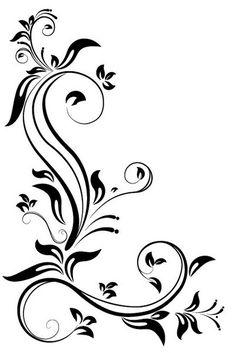 Kenar dekorasyonları için çiçek deseni