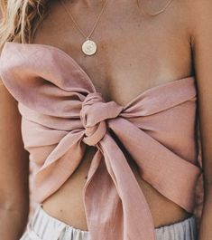disc necklaces + bow tops | #ootd #mystyle