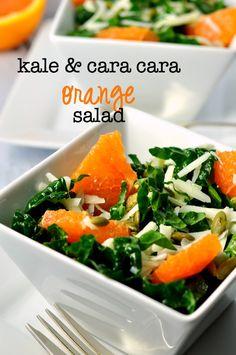 Kale and Cara Cara Orange Salad with Manchego Cheese and Meyer Lemon Vinaigrette |www.flavourandsavour.com A burst of Vitamin C!