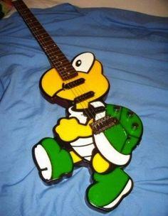 nice koopa Mario guitar