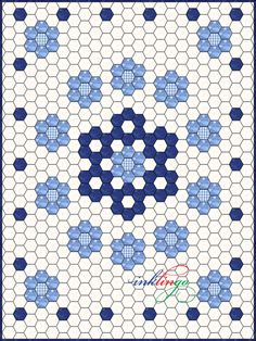 Inklingo Hexagon Quilt Design--snowflake center-hmm?