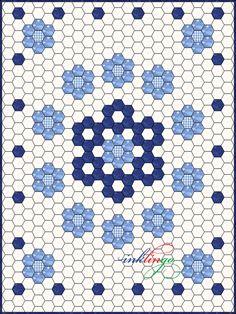 Inklingo Hexagon Quilt Design--snowflake center-hmm?