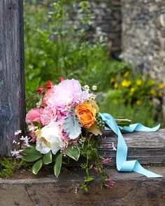 "Blue has been connected to weddings for centuries, but there's no need to stick to the old standbys when searching for your ""something blue."" Instead, take a cue from these brides who found unexpected ways to incorporate the hue in their big day, from stitching a bit of navy ribbon into their hem or by arriving loud and proud in a baby-blue vintage car."