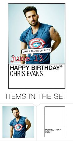 """""""happy birthday chris evans!"""" by madfashionaddict ❤ liked on Polyvore featuring art"""