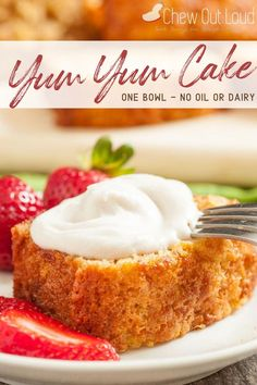 This Yum-Yum Cake recipe is amazingly delicious and moist, without the need for any oil or butter. It's a time-tested recipe that's been handed down through generations. #yumyumcake #onebowlrecipe #cakerecipe #yumyumcakerecipe #bakingrecipe Delicious Cake Recipes, Cupcake Recipes, Baking Recipes, Cupcake Cakes, Old Recipes, Dessert Recipes, Cupcakes, Potluck Desserts, Easy Desserts