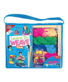 Take a look at this Learn to Weave Kit by T.S. Shure on #zulily today! $17 !!