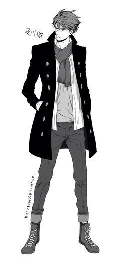 Oikawa Tohru: Aoba Johsai's Captain, The Great King (Haikyuu! Anime Sexy, Anime Sensual, Hot Anime Guys, I Love Anime, Anime Boys, Manga Anime, Manga Boy, Anime Art, Male Character