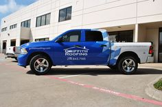 2013 Dodge Ram 1500 partial wrap for Griffith Roofing @carwrapcity