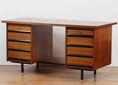 £554.00 +£145.00 Insured Delivery Width: 150 cm / 59 inch Depth: 70 cm / 28 inch Height: 77 cm / 30 inch from Netherlands to: Vintage Danish Teak Desk from Nabytek 1