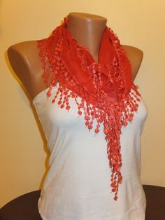 Red Summer Scarf Check out this item in my Etsy shop https://www.etsy.com/listing/179626143/amaranth-scarfred-scarf-lace-scarfwomens