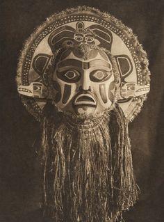 Dancing mask - Nootka (The North American Indian, v. XI. Cambridge, MA: The University Press, 1916)