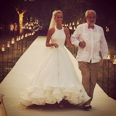 Mary Katrantzou 's First Wedding Dress. Pure perfection. Simple and very stylish gown.