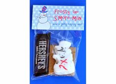 I could actually afford this for 80 kids.. 2 graham crackers, one little hershey bar, and snowman peeps