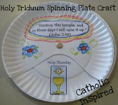 Easter Triduum Craft ~ Spinning Paper Plate | Catholic Inspired ~ Arts, Crafts, and Activities!