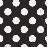 Black Polka Dot Beverage Napkins (16ct) $1.79