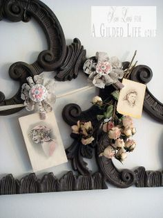 Lace flower clips by Kimberly Laws for A Gilded Life.