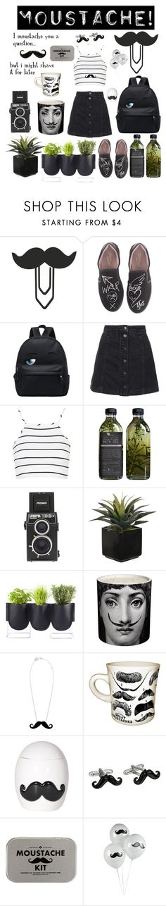 """Moustache"" by yuliabaylor ❤ liked on Polyvore featuring Vivienne Westwood, Topshop, AMBRE, LØMO, Authentics, Fornasetti, Lowie, Cufflinks, Inc. and Men's Society"