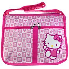Hello Kitty Pink Strawberry Check Shoulder Bag #hellokitty #hellokittyuk #kawaii #dizzypink #hellokittycollection #hellokittyaddict #hellokittystuff #hellokittylover #bag #luggage #strawberry #pink Hello Kitty Accessories, Cute Strawberry, Hello Kitty Collection, Cat Stickers, Bag Sale, Sanrio, Diaper Bag, Kawaii, Shoulder Bag