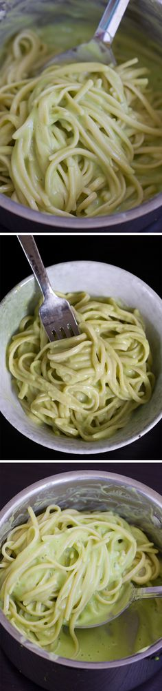 A low-calorie & meatless meal that's surprisingly high in protein… SO rich and creamy, and can be made in under 20 minutes, from start to finish! http://chocolatecoveredkatie.com/2015/09/17/avocado-alfredo-recipe/
