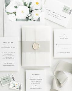 Aurora Floral Wedding Invitations - Floral Wedding Invitations by Shine