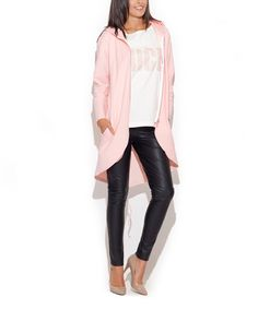Look at this #zulilyfind! Pink Hooded Open Jacket #zulilyfinds