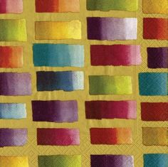 Entertaining with Caspari Color Blocks Paper Dinner Napkins, Gold, Pack of 20 Paper Dinner Napkins, Complimentary Colors, Dining Table In Kitchen, Cloth Napkins, Cocktail Napkins, Pattern Blocks, Paper Goods, Rainbow Colors, Biodegradable Products