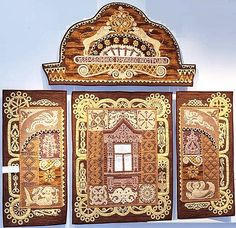 Wooden lace of Russian architecture. Author - Smolenko