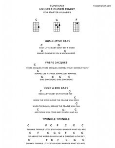4 lullabies on the ukulele