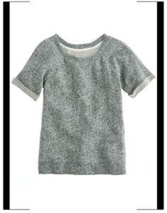 J. Crew short-sleeved sweatshirt - Vogue