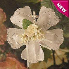 Italian Confetti Flower for Baptism or First Communion myitalianfavors.com™
