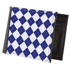 Argyle in Blue Mens Wallet