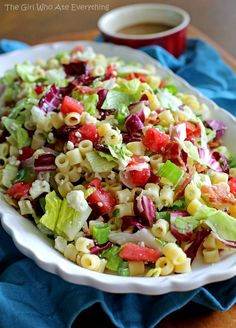 Portillo's Chopped Salad - I halved the olive oil amount, turned out wonderful!