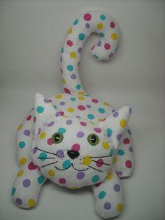 Critter Club Stuffed Animal Sewing Pattern:  Lying Kitty - Downloadable PDF - Photo