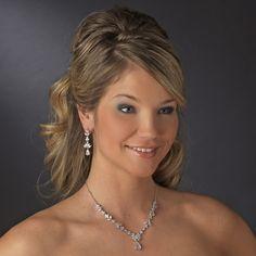 Affordable Elegance Bridal - Floral CZ Crystal Wedding Jewelry Set ne1287, $85.99 (http://www.affordableelegancebridal.com/floral-cz-crystal-wedding-jewelry-set-ne1287/)