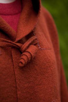 Felt knit thick jacket